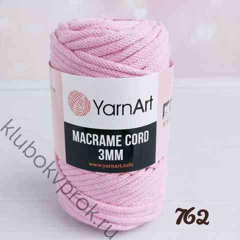 YARNART MACRAME CORD 3mm 762, Холодный розовый