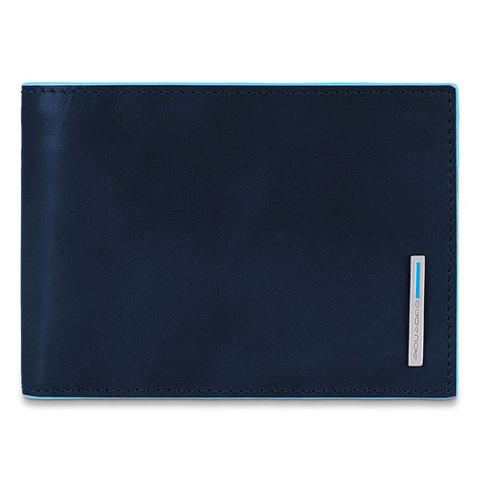 Портмоне Piquadro Blue Square, синее, 12,5х9,5х2,5 см