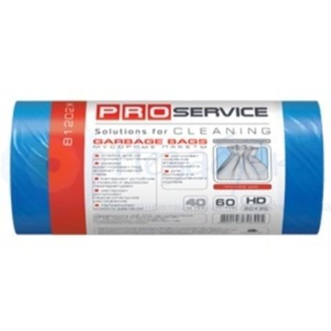 Пакеты для мусора PRO ХД 60л/40шт. синие