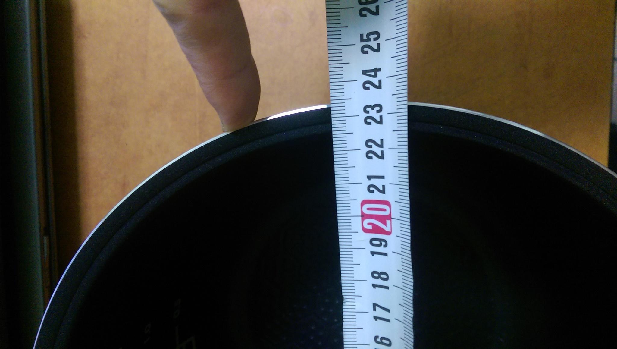 Мультиварка Mystery MCM-1010 Диаметр чаши составляет 23.4 см (234 мм)