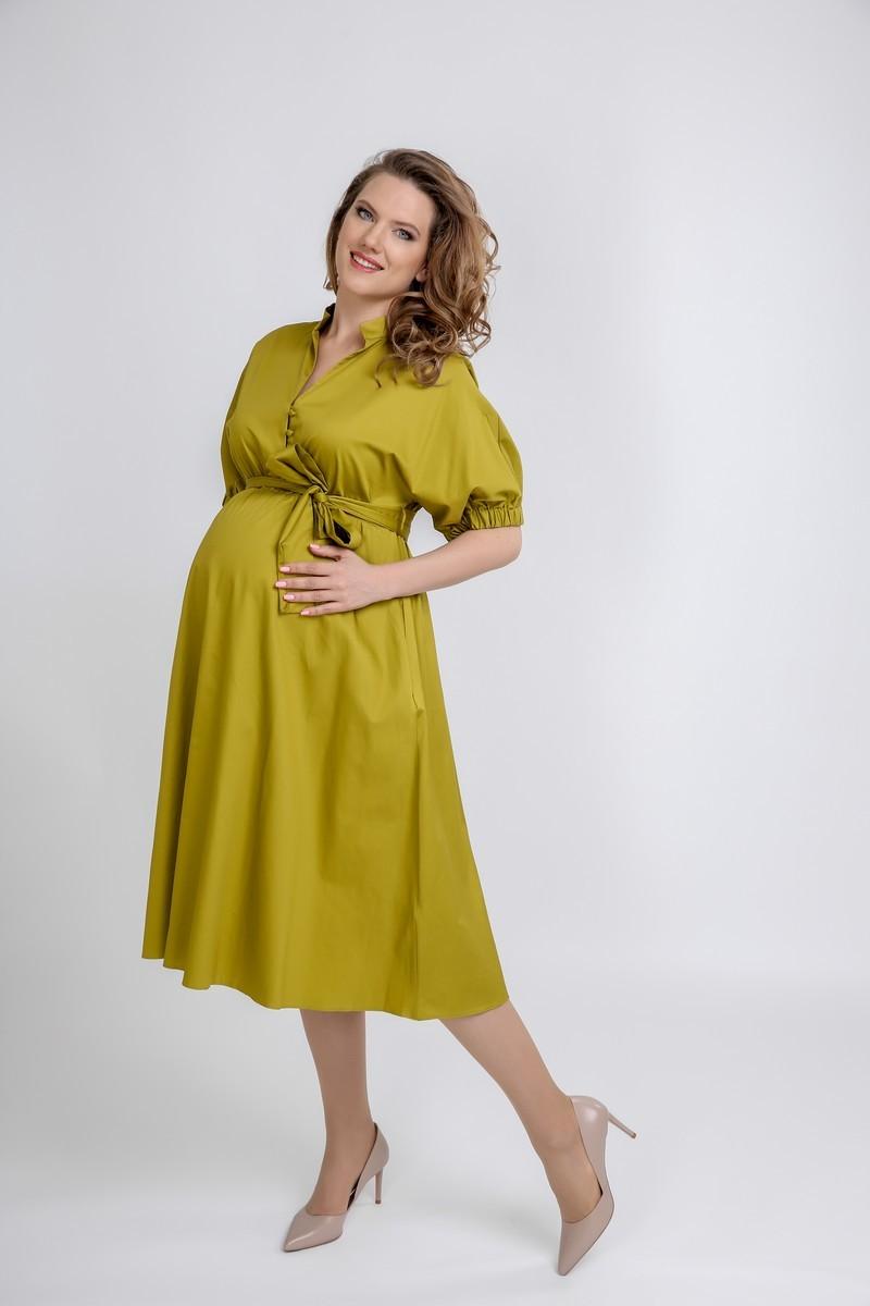 Фото платье для беременных GEMKO от магазина СкороМама, оливковый, зеленый, размеры.