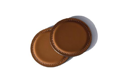 Костер-подстаканник кожаный цвет Табак / шоколад