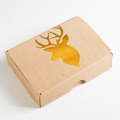 Коробка складная рифлёная «Подарок», 21 х 15 х 5 см, 1 шт.