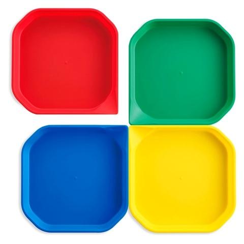 Fan2 Play Набор лотков для активных игр красный, желтый, синий, зеленый Edx education 77035