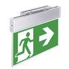 Световые указатели направления движения при эвакуации KASJOPEJA с кронштейном для монтажа к потолку или на стену – общий вид