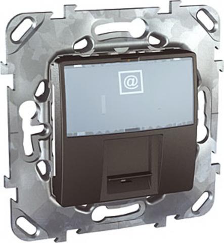 Розетка компьютерная розетка 1хRJ45 кат. 6е. Цвет Графит. Schneider electric Unica Top. MGU5.425.12ZD