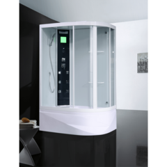 Душевая кабина Orans OLS-SR86155L 90х130см. профиль белый, стекло прозрачное