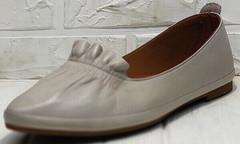 Остроносые балетки туфли кожаные женские Wollen G036-1-1545-297 Vision.