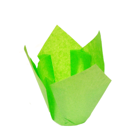 Форма-тюльпан зеленая, 20шт