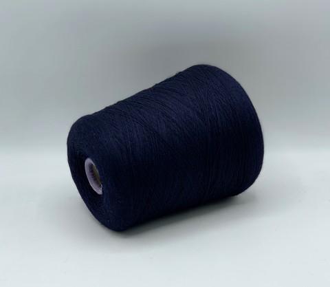 Бобинная пряжа Zegna Baruffa(пр.Италия), art. CASHWOOL,2400м/100гр. 100%меринос , цвет-Тёмно-синий, арт-9242