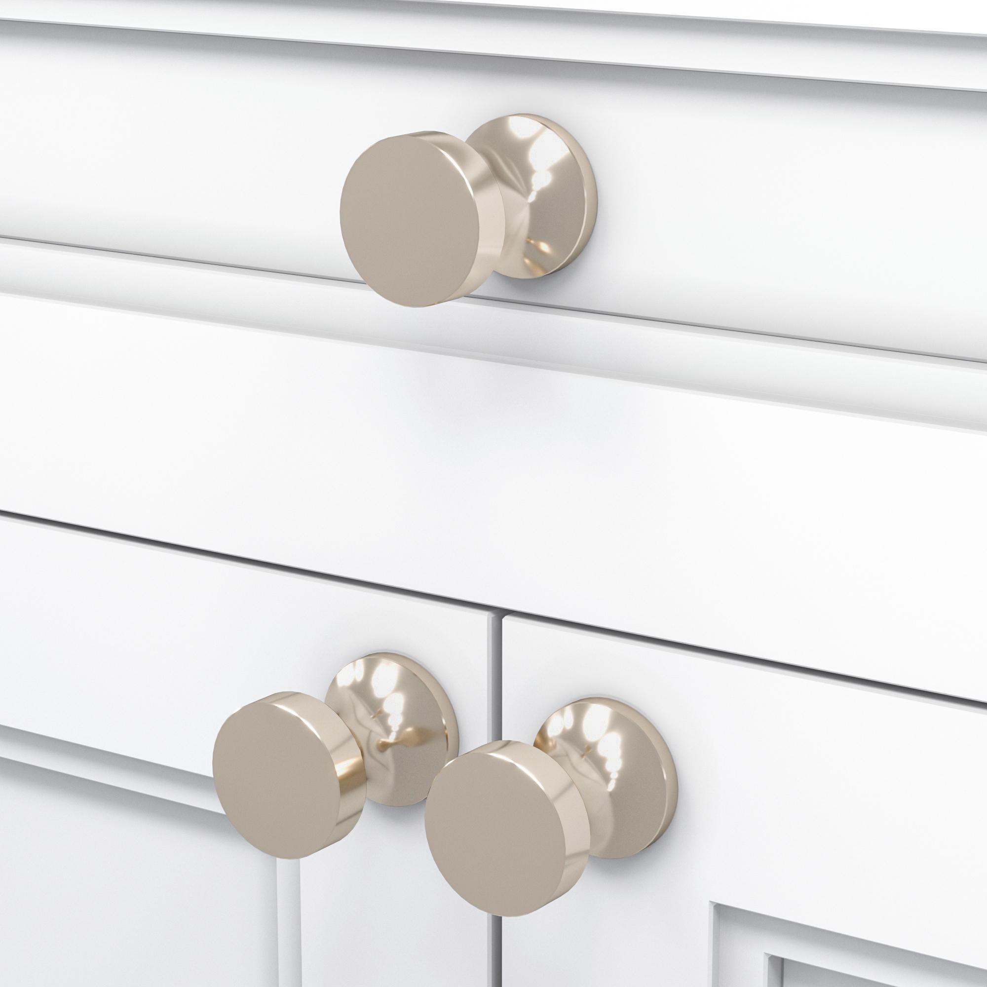 Кнопка Larch/Polished Nickel