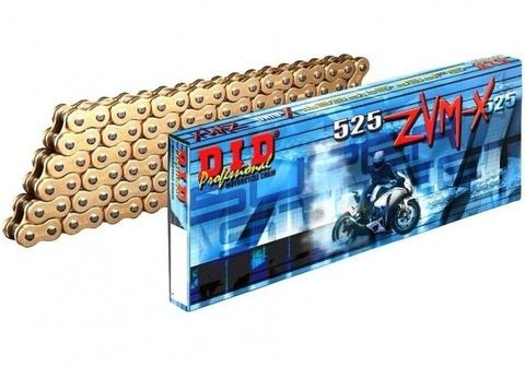 Цепь DID 525 ZVM-X на 120 звеньев золото (Gold)