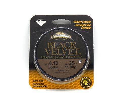 Плетеная леска Berkley Black Velvet Черная 300 м. 0,10 мм. 11,9 кг. (1345396)