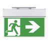 Световые указатели направления движения при эвакуации KASJOPEJA с кронштейном для монтажа к потолку или на стену – вид спереди
