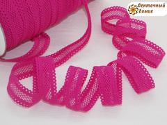 Резинка ажурная для повязок малиновая ширина 16 мм
