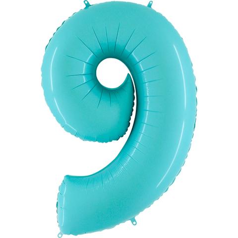 Цифры нежно-голубые, 102 см