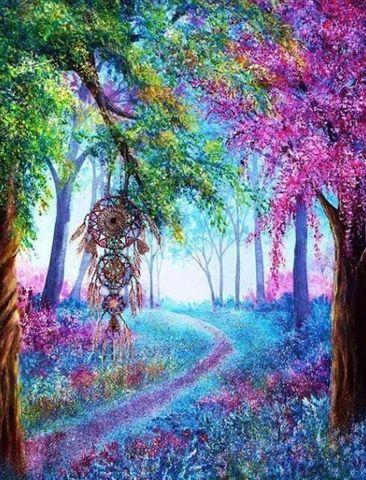 Алмазная Мозаика 50x65 Ловец снов в лесу