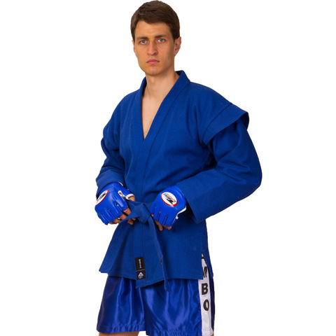 Кимоно для самбо синий