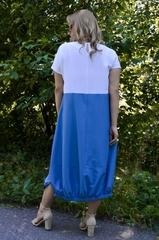 Агат. Оригінальна сукня великих розмірів. Джинс.