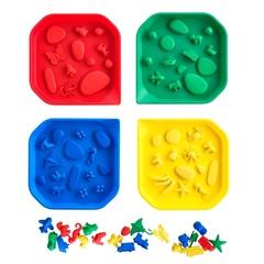 Набор лотков для активных игр красный, желтый, синий, зеленый Edx education 77035