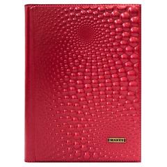 Ежедневник кожаный «Капли» красный