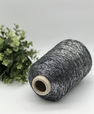 Вискоза с люрексом TORCITURA DI DOMASO DISPO 3400 серый с серебром