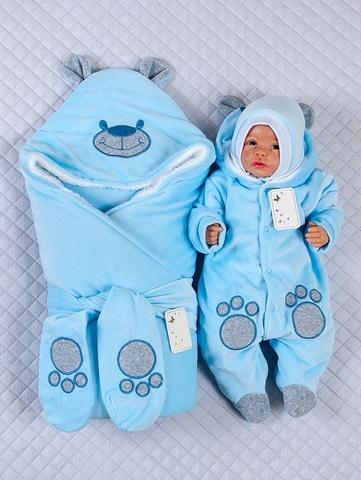 Набор на выписку Little Bear светло-голубой