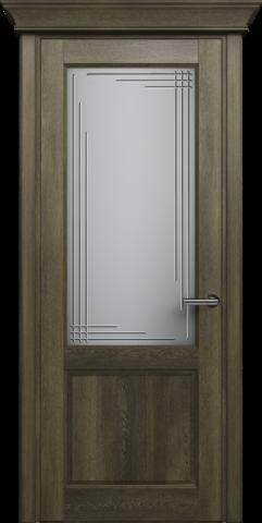 CLASSIC 521 Дуб Винтаж. стекло: Грань