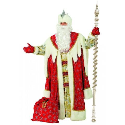 Костюм Дед Мороз Королевский красный