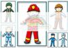 """Дополнительный набор одежды для игры """"Одень мальчика Тимошу"""" Профессии. Развивающие пособия на липучках Frenchoponcho (Френчопончо)"""