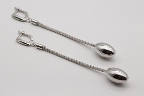 Серьги  из серебра 925 без вставок Италия