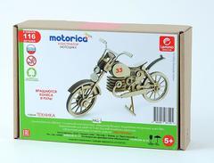 Конструктор 3D деревянный подвижный Lemmo Мотоцикл 33