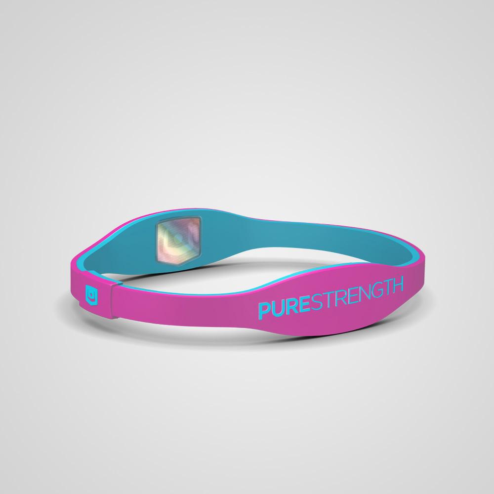 Браслет PureStrength Edge  LTE розовый/голубой
