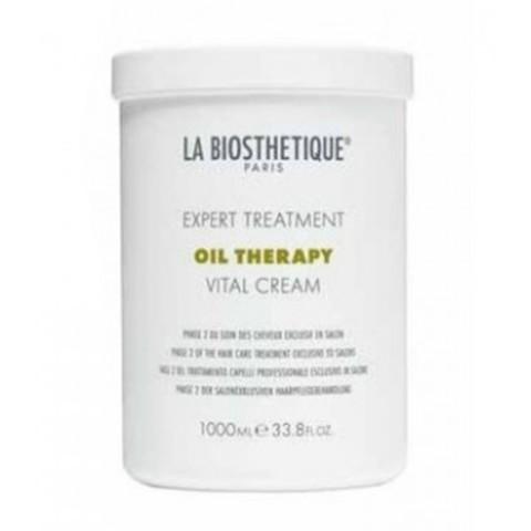 La Biosthetique Oil Therapy: Маска для восстановления толстых волос с сильными повреждениями, фаза 2 (Vital Cream), 1л