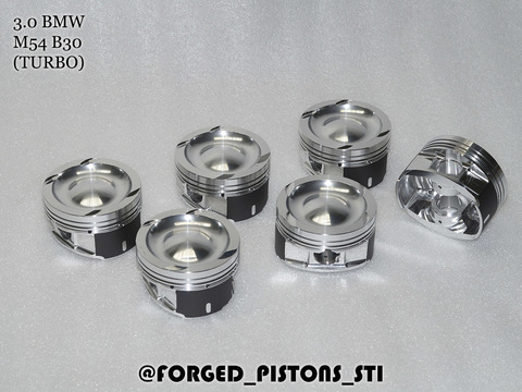 Кованые поршни СТИ BMW M54B30 Турбо Turbo - Артикул 330.04.1 Forged Pistons STI