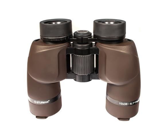 Бинокль Sturman 10x36 коричневый - фото 2