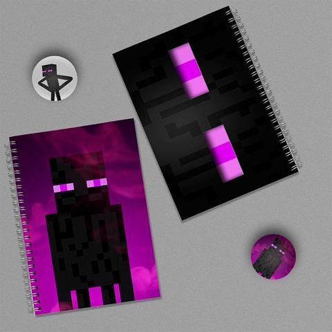 Эндермен: набор из 2 тетрадей и 2 значков