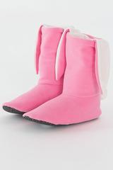 """Домашние носочки """"Зайчики розовые с белыми ушками"""""""