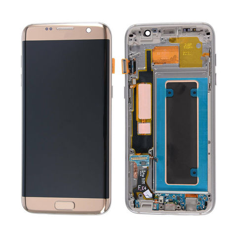LCD SAMSUNG Galaxy S7 Edge G935F + Touch + Frame Gold Orig