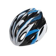 Велошлем Cigna WT-012 (чёрный/синий/белый)