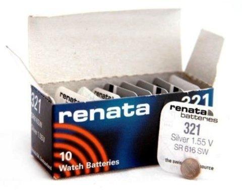 Элемент питания Renata 321 (SR616SW)0%Hg BL-1/10/100