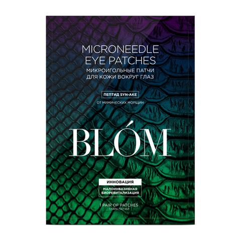 BLOM | Микроигольные патчи для кожи вокруг глаз с пептидом SYN-AKE  / 4 пары