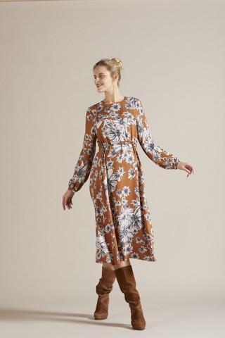 Платье для беременных 09777 принт цветы