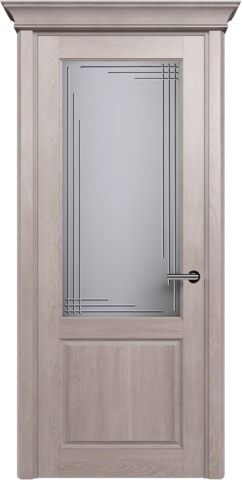 CLASSIC 521 Дуб Серый. стекло: Грань