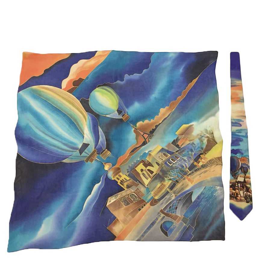Комплект батик: платок и галстук