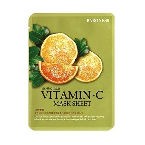Baroness Mask Sheet VITAMIN - C Тканевая маска с витамином С