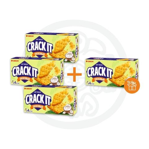 3 + 1 Печенье КРЕК-ИТ КОКОСОВЫЙ CRACK IT COCONUT 72г ORION
