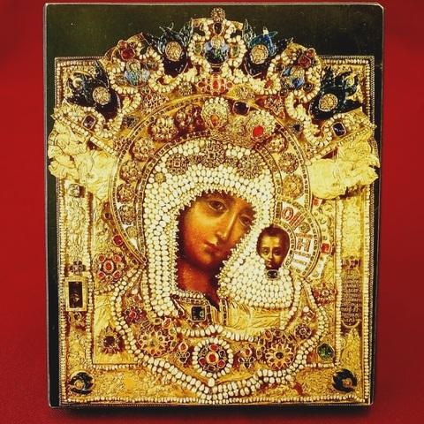 Икона Божией Матери Казанская с Власами на дереве на левкасе мастерская Иконный Дом