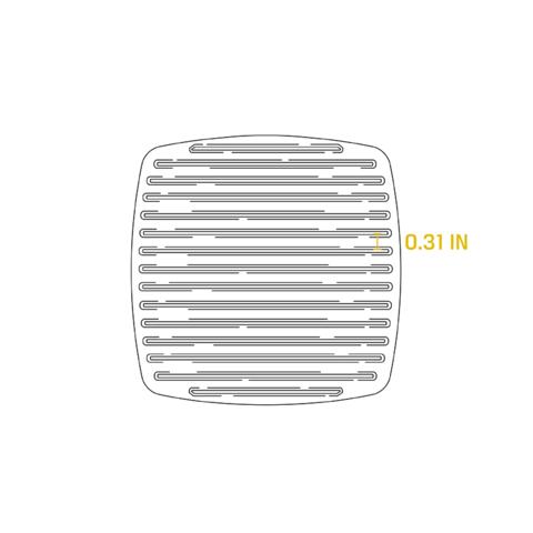 Чугунный квадратный рифленый пресс для гриля, артикул LPP3