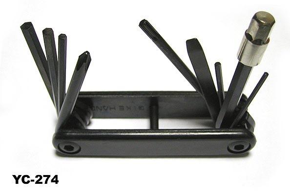 Шестигранник Bike Hand YС-274 складной 9 предметов